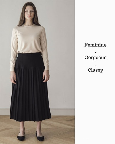 MOOD PLEATS SKIRT (당일출고)